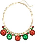 Jingle Bell & Ornament Necklace