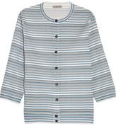 Bottega Veneta Jacquard-knit Cardigan - Blue