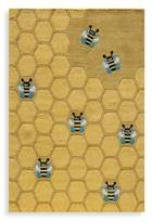 Momeni 'Lil Mo Whimsy LMJ-15 5-Foot Round Area Rug in Honeycomb Gold