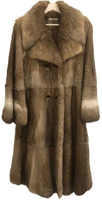 Celine Beige Rabbit Coat for Women