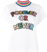 Mira Mikati Forever or Never Glitter Embellished T-Shirt