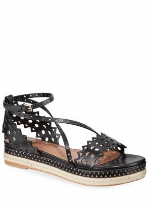 Alaia Vienne Platform Espadrille Sandals
