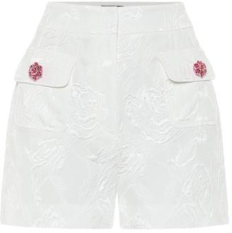 Dolce & Gabbana Cotton and silk-blend jacquard shorts
