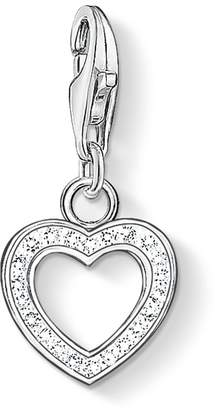 Thomas Sabo Women-Charm Pendant Heart Charm Club 925 Sterling Silver Zirconia white 0930-051-14