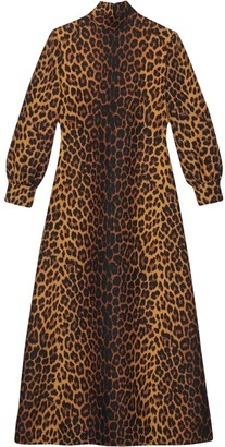 Gucci Leopard print wool dress