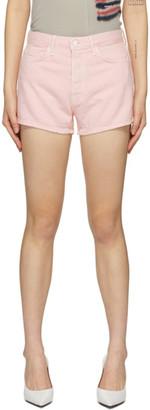 GRLFRND Pink Denim Helena Shorts