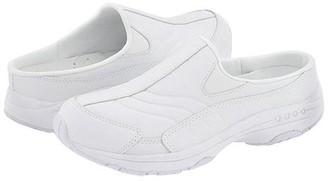 Easy Spirit Tour Guide (White Leather) Women's Slip on Shoes