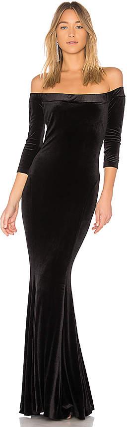 Norma Kamali Fishtail Gown
