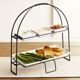 Pier 1 Imports Tiered Server with Platter & Condiment Dishes