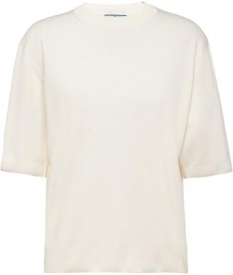 Prada logo applique T-shirt