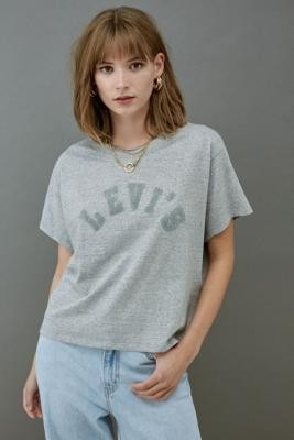 Levi's Graphic Varsity T-Shirt - Grey M at Urban Outfitters