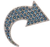 Sonia Rykiel Crystal-embellished arrow brooch