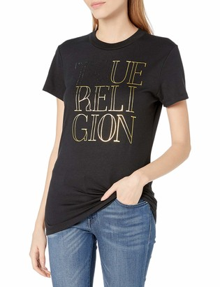 True Religion Women's Crystal Short Sleeve Crewneck Tee