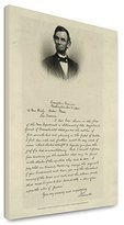Canvas Print 12x18: Letter From Abraham Lincoln To Mrs. Bixby, With Bust-Length...