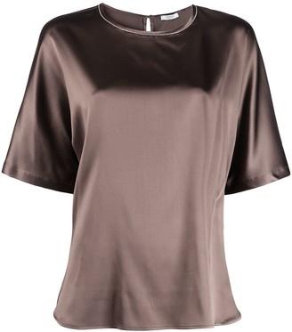 Peserico round neck silk T-shirt