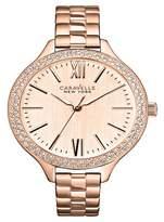Caravelle New York by Bulova Women's Rose Gold-Tone Stainless Steel Bracelet Watch- 44L125