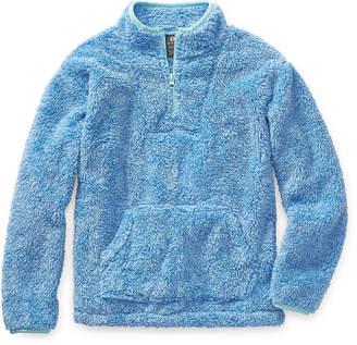 Minky Xersion Fleece Girls Long Sleeve Quarter-Zip Pullover Preschool / Big Kid