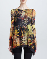 Jean Paul Gaultier Printed Trapeze Top