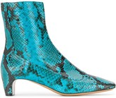 Maison Margiela 35mm snake-effect ankle boots