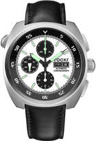 Tockr Watches Men's Air Defender Panda Chronograph Watch with Leather Strap