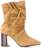 Tory Burch drawstring side detail boots