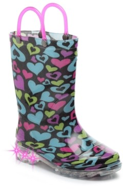 Western Chief Dancing Hearts Light-Up Rain Boot - Kids'