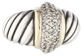 David Yurman Two Tone Diamond Ring
