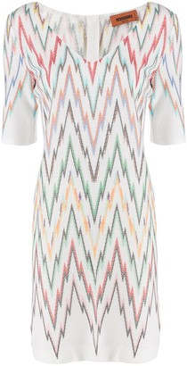 Missoni Zigzag Print Short Dress