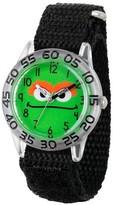 Sesame Street Boys' Clear Plastic Time Teacher Watch - Black
