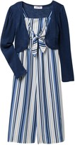 Beautees Solid Knit Shrug & Jumpsuit Set (Big Girls)