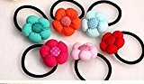Cuhair(tm) 2015 New Fashion Top Quality Baby Girl Kids 5pcs Cute Big Flower Hair Rope Hair Band Accessories Rubber Band Elastic Hair Rope for Baby Kids Girl