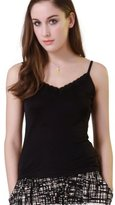Forever Angel-Women's Tops Forever Angel Women's Knitted Silk Lace Camisole Tops Size L