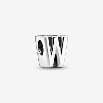 Pandora Letter W Alphabet Charm