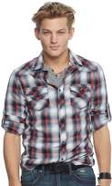 Rock & Republic Men's Plaid Stretch Twill Button-Down Shirt