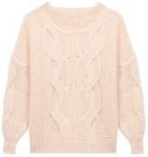 Maje Morsade Oversized Cable-Knit Sweater