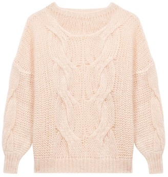 Maje Morsade Oversized Cable-Knit Sweater