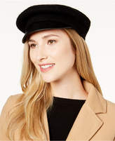 Nine West Wool & Faux-Leather Newsboy Hat