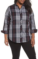 Foxcroft Plus Size Women's Fay Glasgow Tartan Shirt