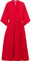 Tome Cutout Crepe Midi Dress - Crimson