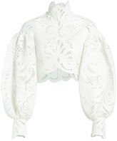 Zimmermann Wavelength Embroidered Lace Top