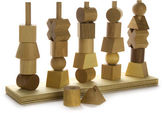 NEW Wooden Story Natural Stacking Toy