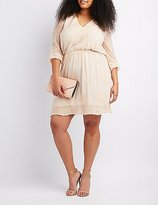 Charlotte Russe Plus Size Embroidered Lace Skater Dress