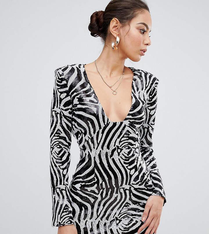 5ba8652e13d Black Bodycon Dress Shoulder Pad - ShopStyle UK