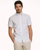 Le Château Seagull Print Cotton Tailored Fit Shirt