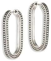 John Hardy Dot Large Sterling Silver Link Earrings/2