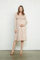 Maternity Long Sleeve Mid-Length Caftan Dress - Snake,