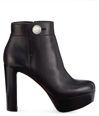 Christian Louboutin Janis Alta Leather Platform Ankle Boots