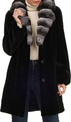 Gorski Mink Stroller W/ Chinchilla Collar