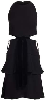 Proenza Schouler Sleeveless Crepe Cutout Dress