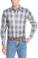 Wrangler Men's Wrinkle Resist Western Long Sleeve Two Pocket Snap Woven Shirt